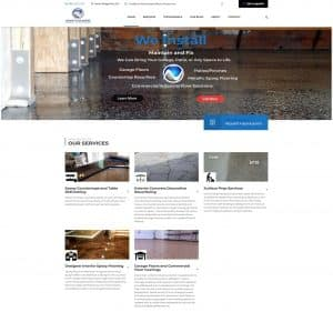 north shore specialty surfaces flutter works website design