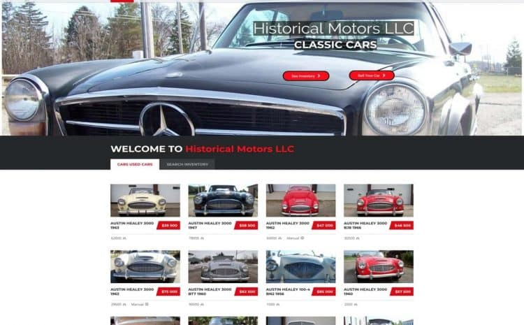 historical motors medina flutter works website design