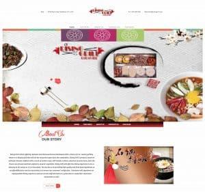 rising grill flutterworks website design