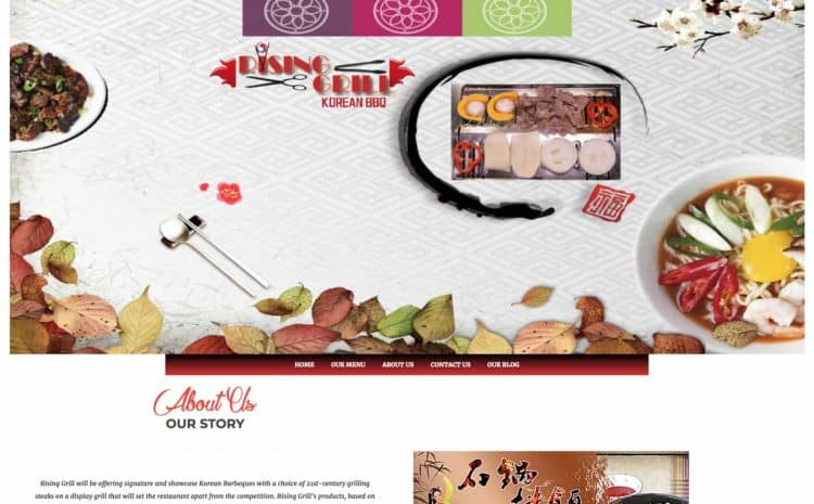 rising grill flutterworks website design