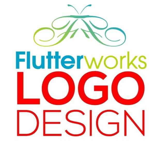 logo design flutterworks digital marketing