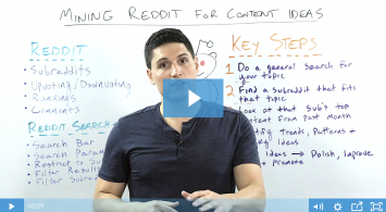 Mining Reddit for Content Ideas in 5 Steps – Whiteboard Friday
