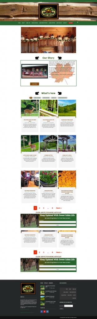 Flutterworks Website design sweet cabin life