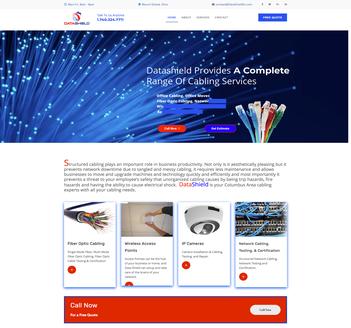 Flutterworks Website design Data shield