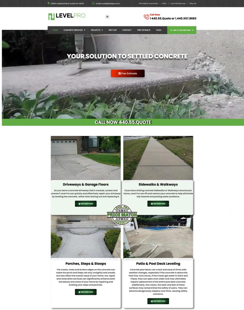 Flutterworks Website design Level pros